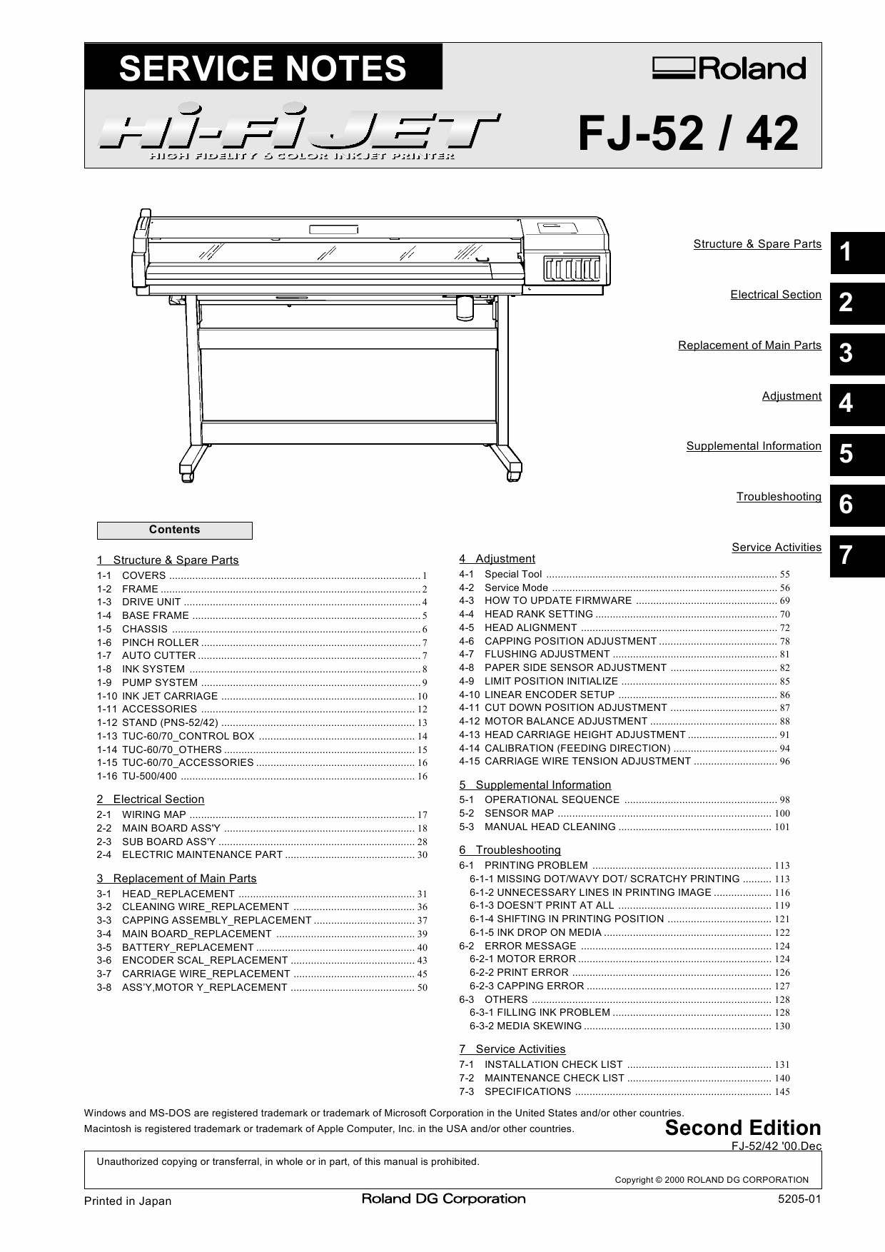 Roland Hi-Fi-JET FJ 52 42 Service Notes Manual-1